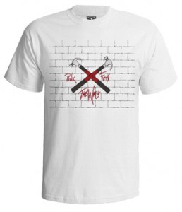 تی شرت های پینک فلوید wall and hammer