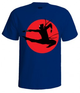 تی شرت نینجا طرح ninja silhouette