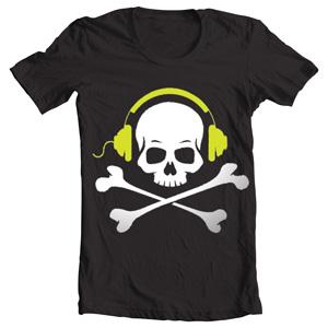 تی شرت دی جی طرح no music no life