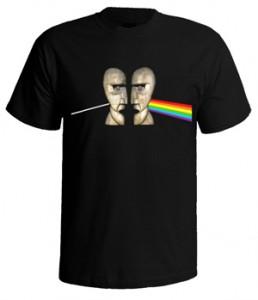 تی شرت طرح پینک فلوید dark side