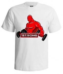 تی شرت بدنسازی طرح strong