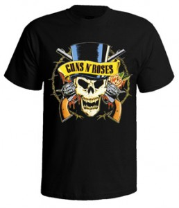 تی شرت guns n roses logo