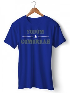 تی شرت طرح sodom and gomorrah