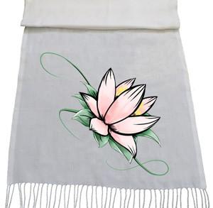 شال گل طرح water lily