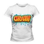 تی شرت گرافیتی طرح crazy