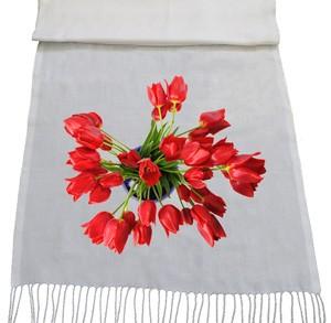 شال با طرح گل لاله
