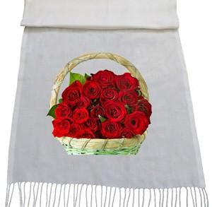 شال با طرح گل رز