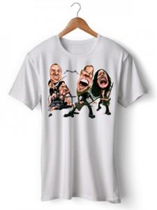 تی شرت طرح metallica caricatura