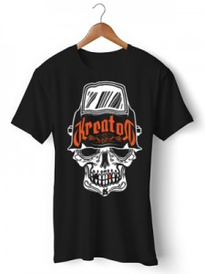 تی شرت طرح kreator trash