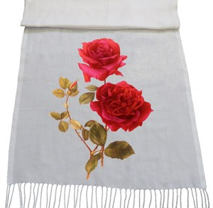 شال با طرح گل و بوته red rose