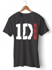 تی شرت one direction طرح directioners