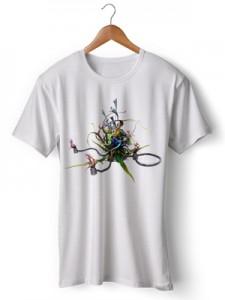 تی شرت سه بعدی طرح colors  design