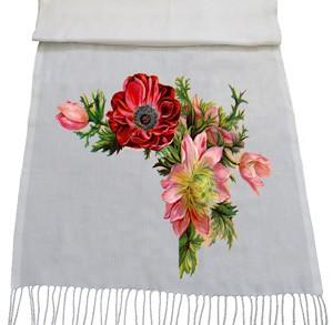 شال گلدار طرح flowers