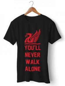 تی شرت لیورپول طرح walk alone