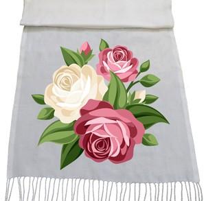 شال گل و بوته طرح rose