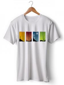 تی شرت گرافیکی طرح colours of the seasons
