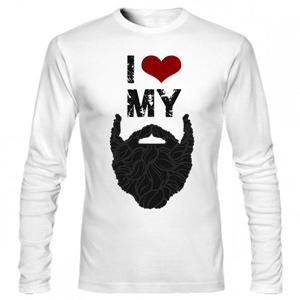 تیشرت آستین بلند گرافیکی love my beard