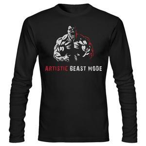 تی شرت بدنسازی طرح artistic beast