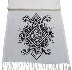 شال سنتی طرح نقاشی سنتی