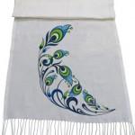 شال با طرح طاووس