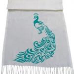 شال طاووس طرح Stencil