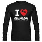 تی شرت آستین بلند i love tehran