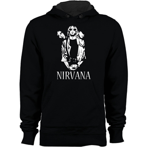 سویشرت نیروانا nirvana black and white