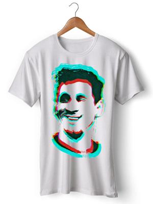 تی شرت ورزشی طرح اختصاصی لیونل مسی