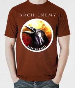 تی شرت متال Burning Angel