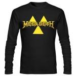 تی شرت طرح متال megadeth logo
