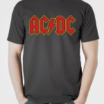 تی شرت متال طرح AC/DC logo