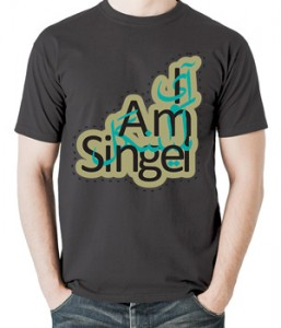 تی شرت گرافیکی طرح i am single
