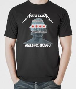 تیشرت متالیکا طرح chicago
