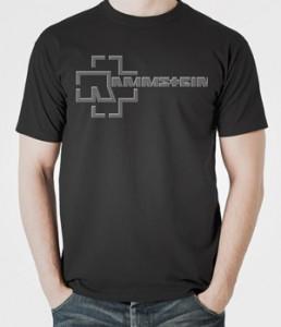 تی شرت متال طرح گروه rammstein logo