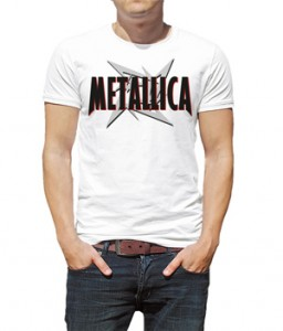 تی شرت metallica طرح band logo