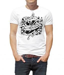 تی شرت خطاطی طرح کیانمهر