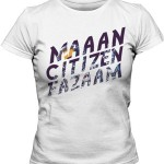 تی شرت زنانه فارسی طرح citizen faaz