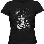 تی شرت زنانه هوا فضا طرح space