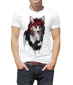 تی شرت سه بعدی حیوانات طرح گرگ