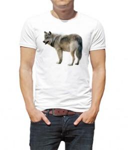 تی شرت گرافیکی حیوانات طرح گرگ