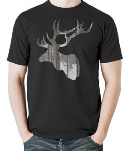 تی شرت گوزن طرح holiday deer