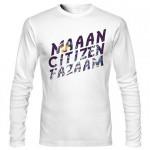 تی شرت آستین بلند فارسی طرح citizen faaz