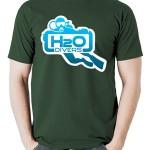 تی شرت غواصی طرح h2o