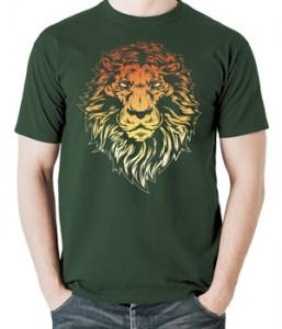تی شرت طرح شیر Angry Lion