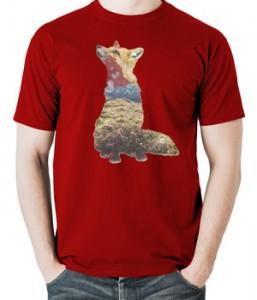 تی شرت حیوانات طرح روباه