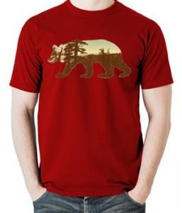 تی شرت حیوانات طرح خرس california bear