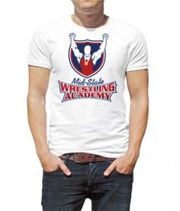 تی شرت کشتی طرح wrestling academy
