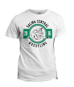 تی شرت طرح کشتی salina central wrestling