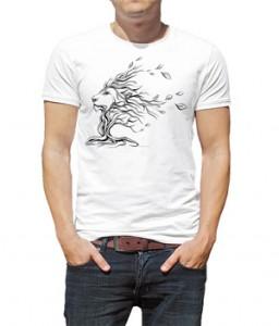 تی شرت حیوانات طرح شیر geometric lion