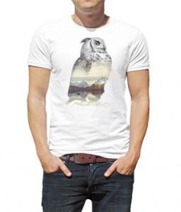 تی شرت طرح جغد Faunascapes